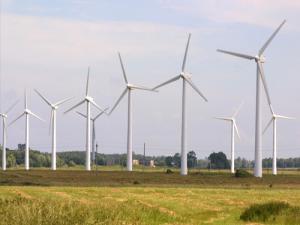 Краснодонская ветряная электростанция в Украине