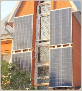 Рисунок 1. Солнечная панель, установленная на стену дома