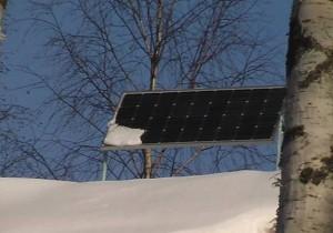Солнечные батареи под снегом