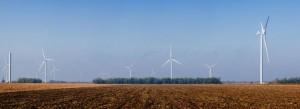 Ветряки Ботиевской электростанции в Украине