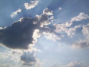 На горизонте пасмурная погода