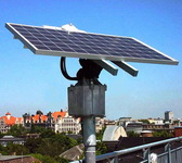 Поворотное устройство с солнечной батареей