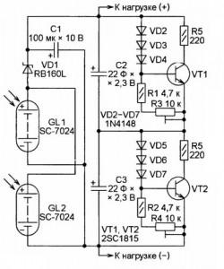 Рисунок 6. Схема стабилизатора солнечной батареи
