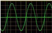 """Рисунок 4. Форма выходного сигнала - """"чистый синус"""""""
