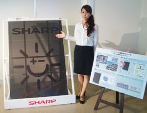Полупрозрачные панели Sharp