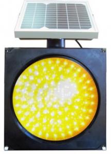 Желтый мигающий светофор с СБ сверху