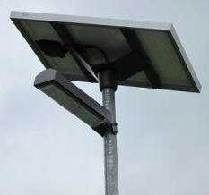 Светодиодный фонарь с солнечной панелью