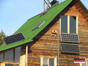 Преображение дачного домика с помощью солнечных батарей