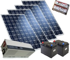 Комплект солнечных панелей номинальной мощностью 600 Вт