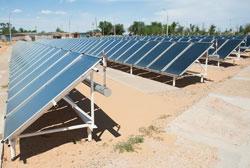 Солнечные коллектора в Нариманове