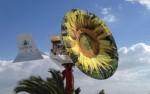 Парус-ветряк в виде подсолнуха
