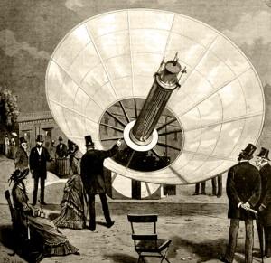 Augustine Mouchot аппарат по концентрации солнечных лучей