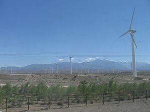 Ветряная электростанция в Урумчи