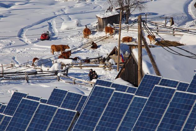 Солнечная электростанция в поселке Эльбеза