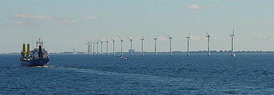 Ветровая электростанция в окрестностях Копенгагена