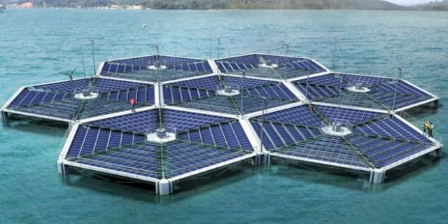 Плавающая солнечная электростанция на Мальдивах