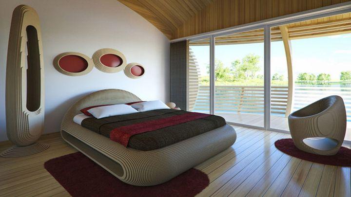 Спальня в плавающем доме