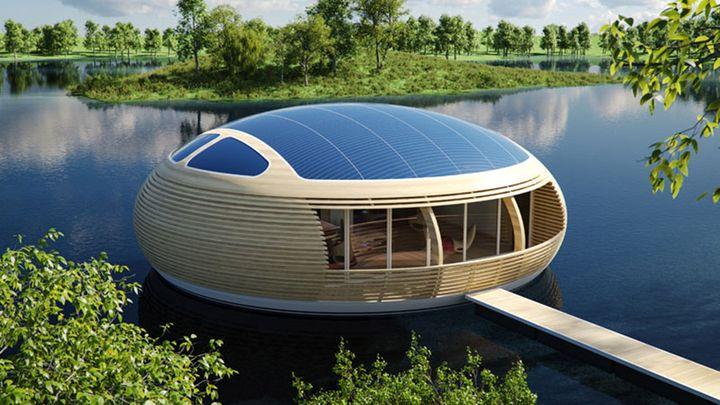Внешний вид плавающего солнечного дома
