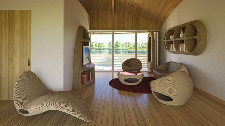 Жилая комната в солнечном доме