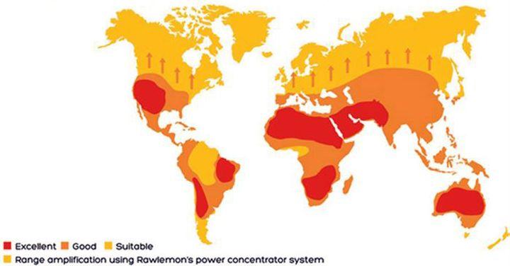 Зоны получения солнечной энергии с помощью beta.ray