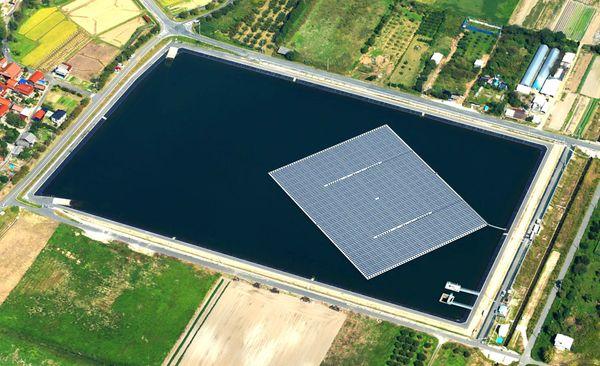 Плавающая солнечная электростанция