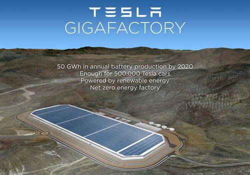 Гигафабрика фирмы Тесла