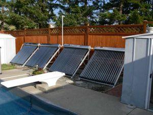 Подогрев бассейна с помощью солнца