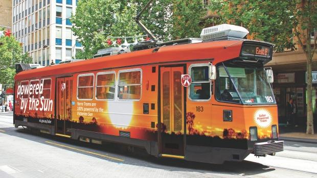 Внешний вид проектируемого трамвая на солнечной энергии