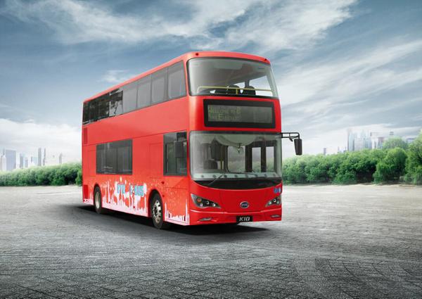 Первый в мире двух-этажный электрический автобус