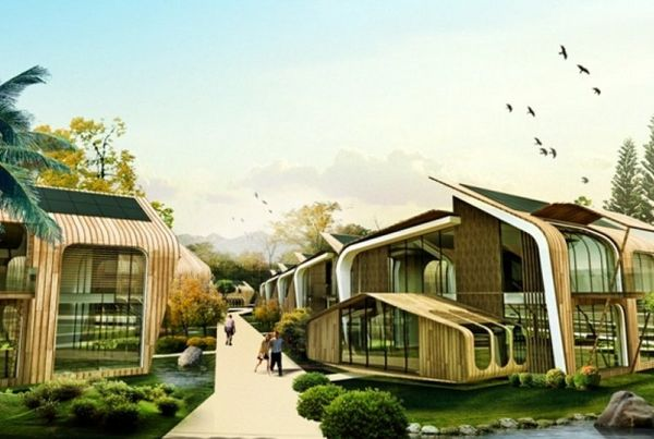 Эко-поселок на солнечной энергии