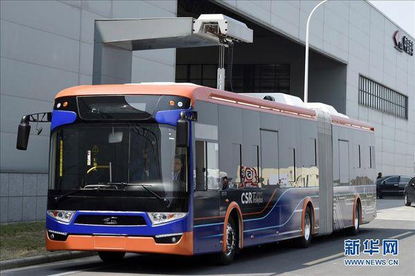 Зарядка автобуса за 10 секунд