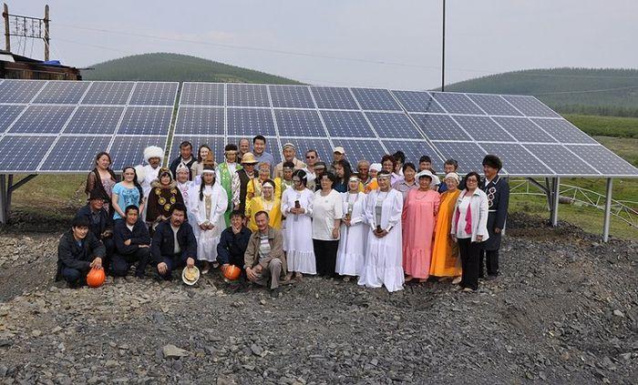 Солнечная электростанция в селе Ючегей