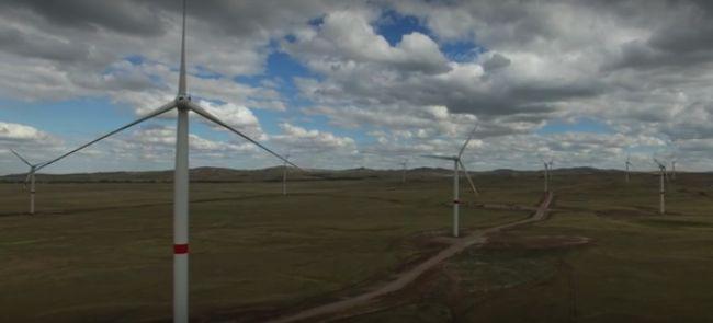 Ветровая электростанция под Астаной