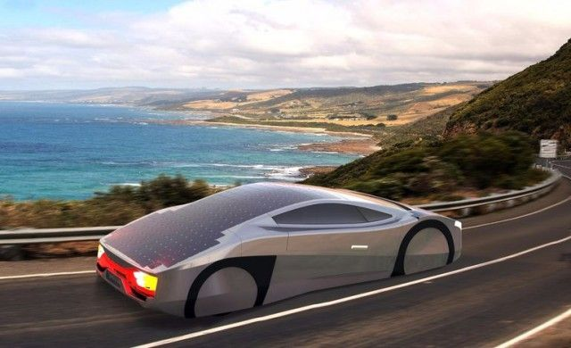 Авто на солнечных батареях Immortus
