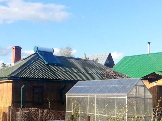 Нагрев воды солнечным коллектором в частном доме