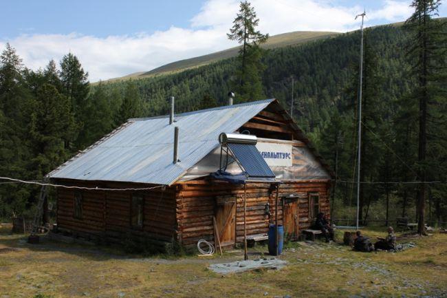Солнечный коллектор на турбазе Высотник