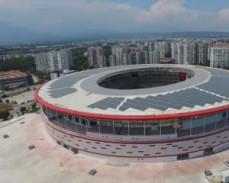 В Турции открылся стадион на солнечных батареях