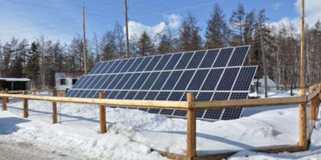 Солнечная электростанция в Якутии