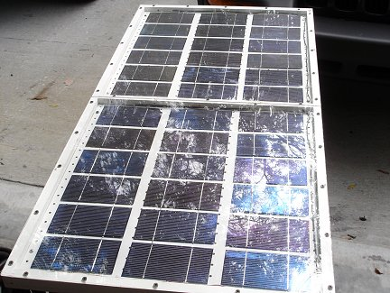 Готовая солнечная батарея, сделанная своими руками