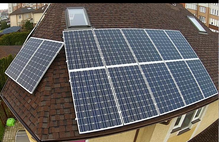 Размещение солнечных батарй на крыше