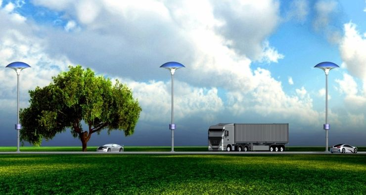 Фонарь на солнечной энергии очищает воздух
