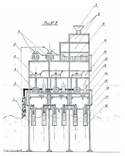 Схема морской волновой гидроэлектростанции