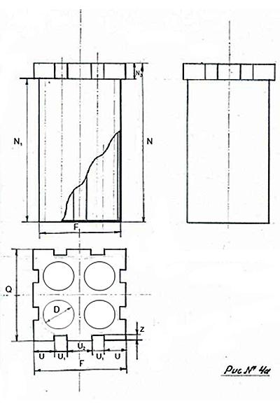 Схема понтона в разрезе