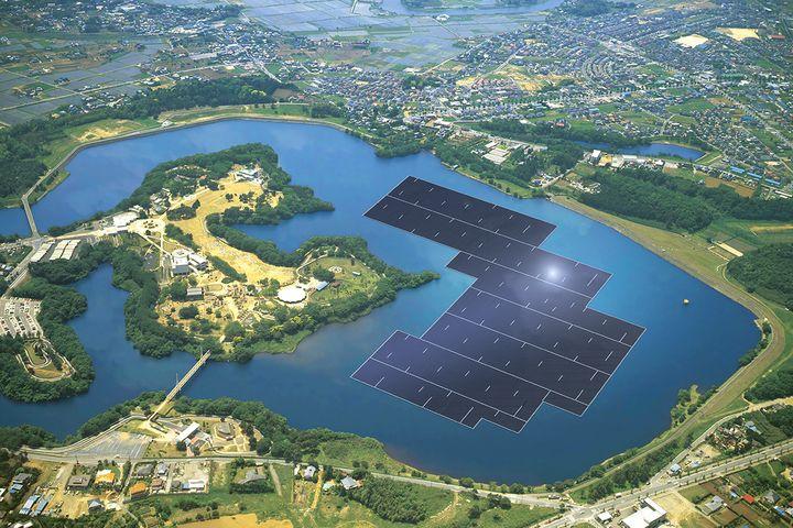Плавучая электростанция Kyocera Corporation