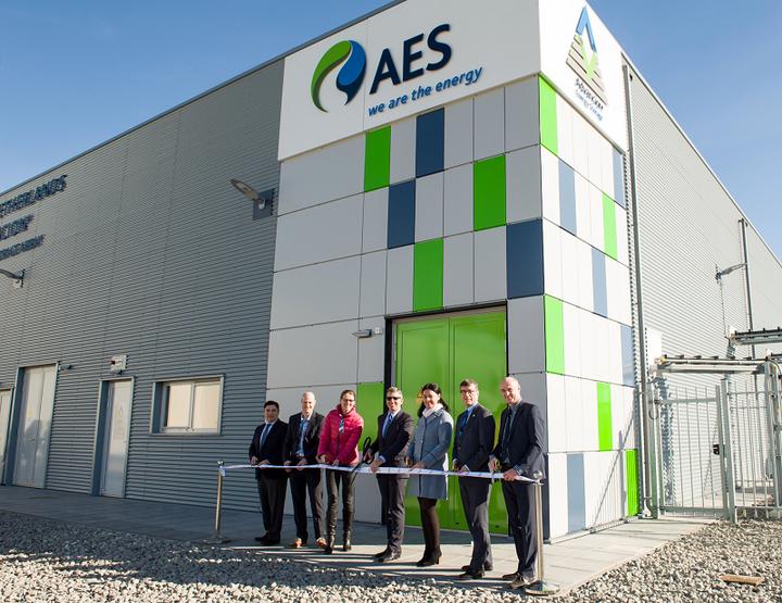 Открытие хранилища электроэнергии компании AES