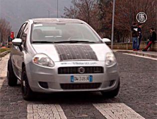 Автомобиль, оборудованный солнечными батареями