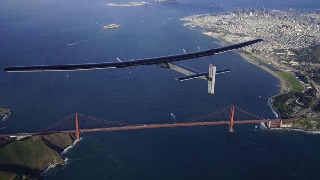 Solar Impulse 2 прилетел в Сан-Франциско