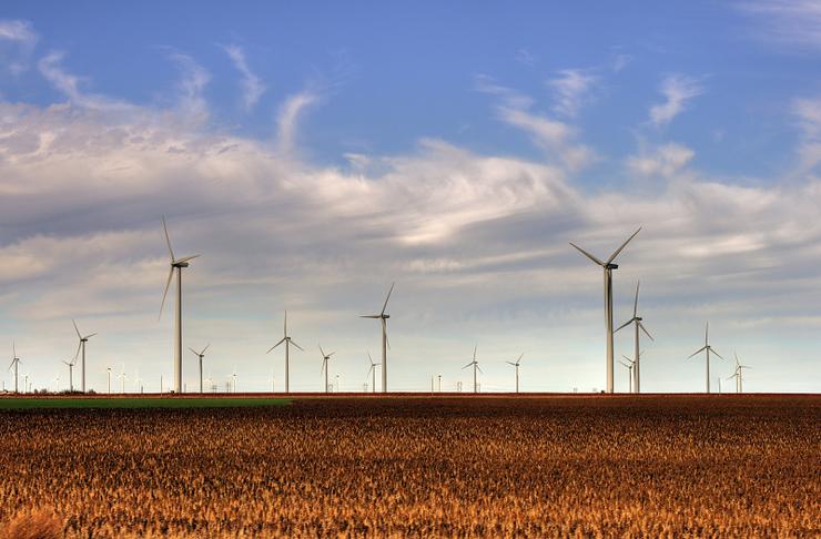 Ветровая электростанция Bison Wind Energy Center в Северной Дакоте, США