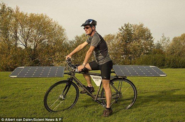 Albert van Dalen солнечный велосипед
