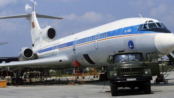 Экспериментальный самолет Ту-155, работающий на криогенном топливе